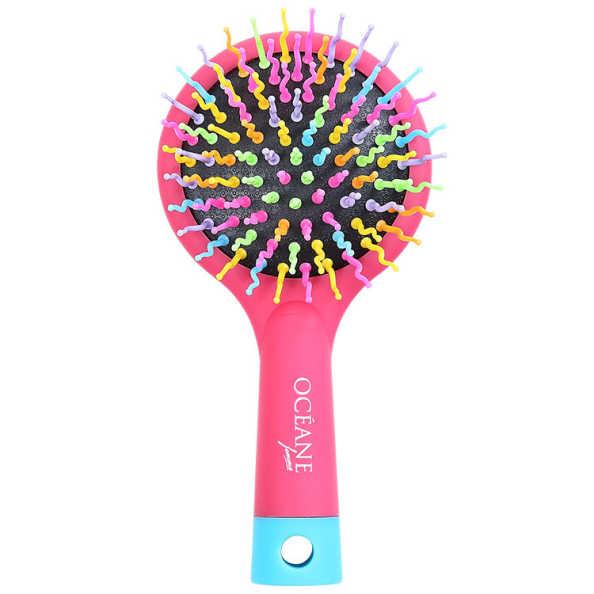 Océane Femme Rainbow Brush Cereja - Escova Almofadada Pequena