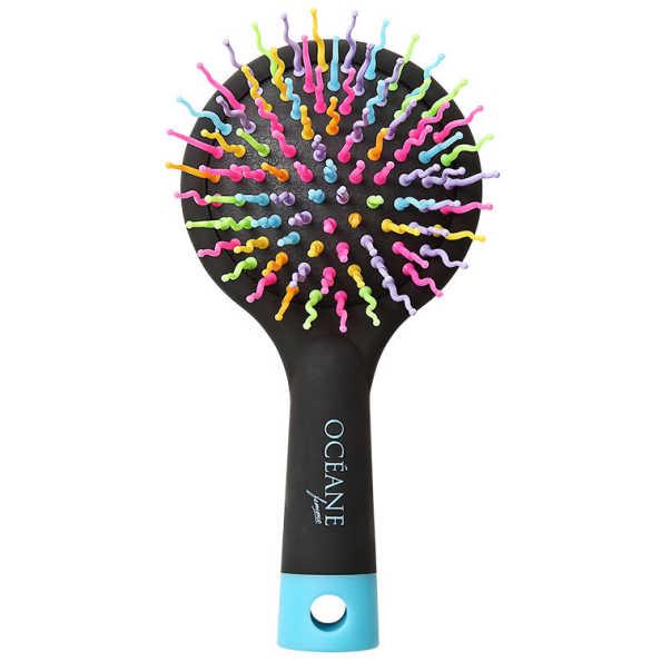 Océane Femme Rainbow Brush Preta - Escova Almofadada Pequena