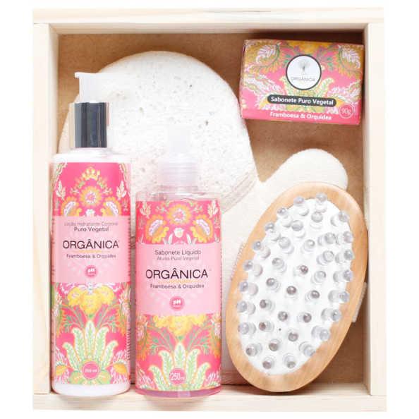 Orgânica Banho Spa Framboesa e Orquídea Kit