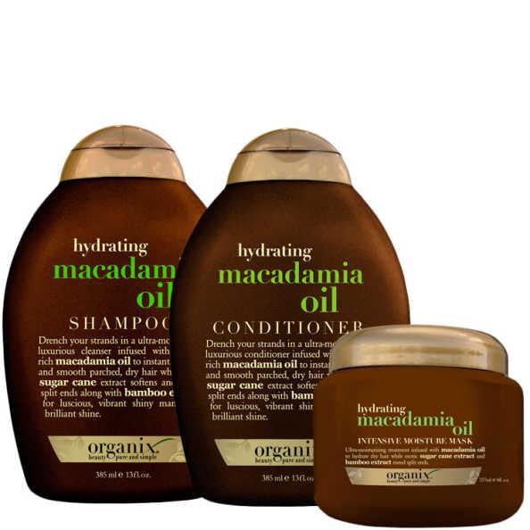 Organix Macadamia Oil Intense Kit (3 Produtos)