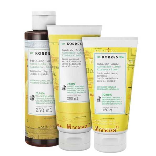 Korres Manjericão-Limão - Triplo Kit (3 Produtos)