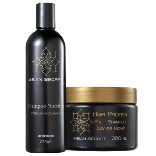 Asian Secret Protein Pre-Shampoo Nutritivo Kit (2 Produtos)
