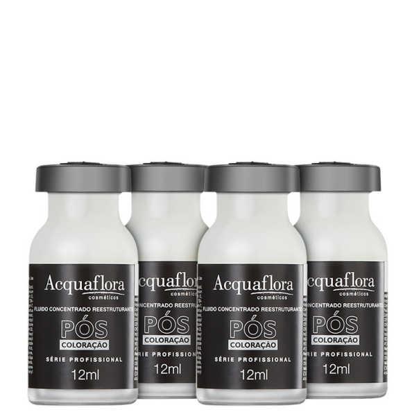 Acquaflora Fluído Concentrado Reestruturante Pós-Coloração - Ampola de Tratamento 4 x 12ml