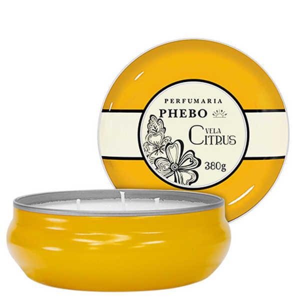 Phebo Perfumaria Águas de Phebo Citrus - Vela Perfumada 380g