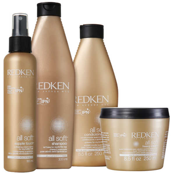 Redken All Soft Heavy Touch Kit (4 Produtos)