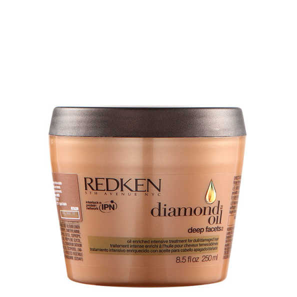 Redken Diamond Oil Deep Facets Mask - Máscara de Tratamento 250ml