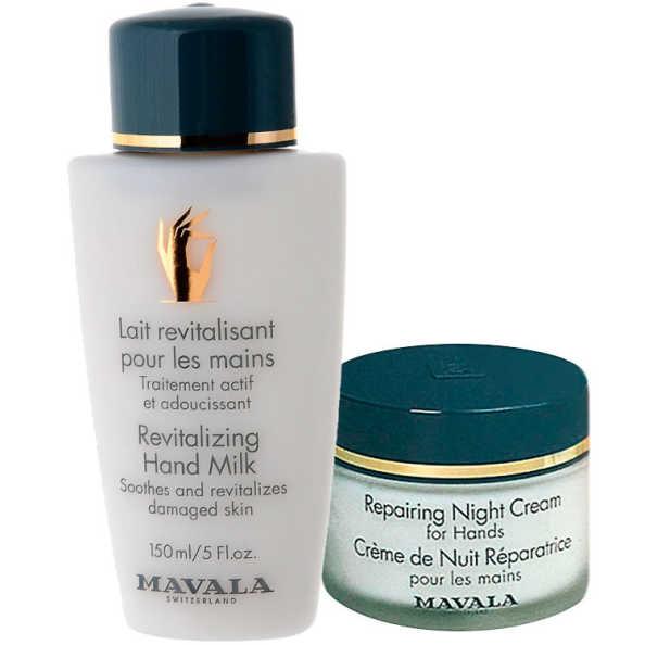 Mavala Revitalizing Milk and Repairing Night Cream for Hands Kit (2 Produtos)