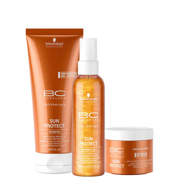 Schwarzkopf Professional BC Bonacure Sun Protect Shimmer Treatment Kit (3 Produtos)