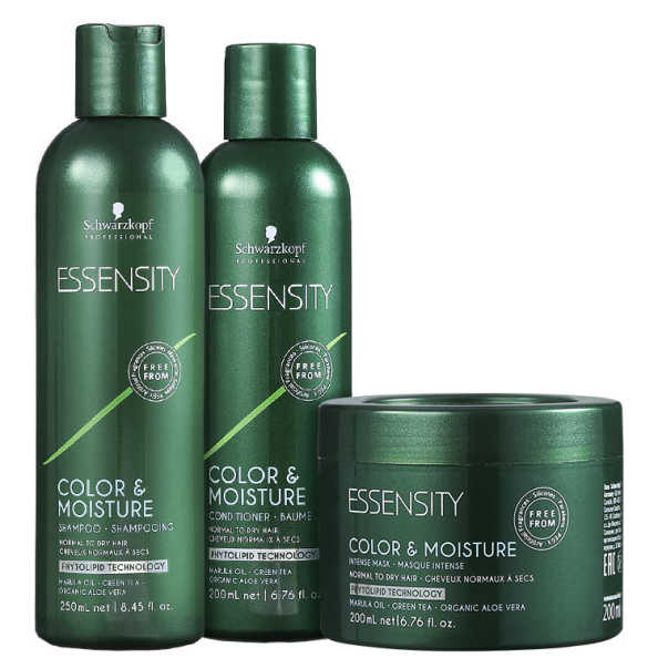 Schwarzkopf Professional Essensity Color & Moisture Conditioner Trio Kit (3 Produtos)