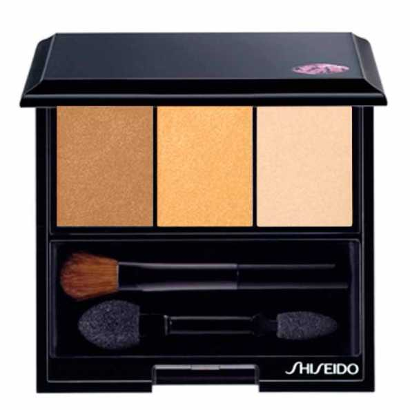 Shiseido Luminizing Satin Eye Color Trio Br209 - Brown/gold/Nude