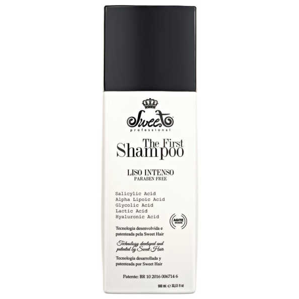 Sweet Hair The First Shampoo Liso Intenso - Shampoo Alisante 980ml