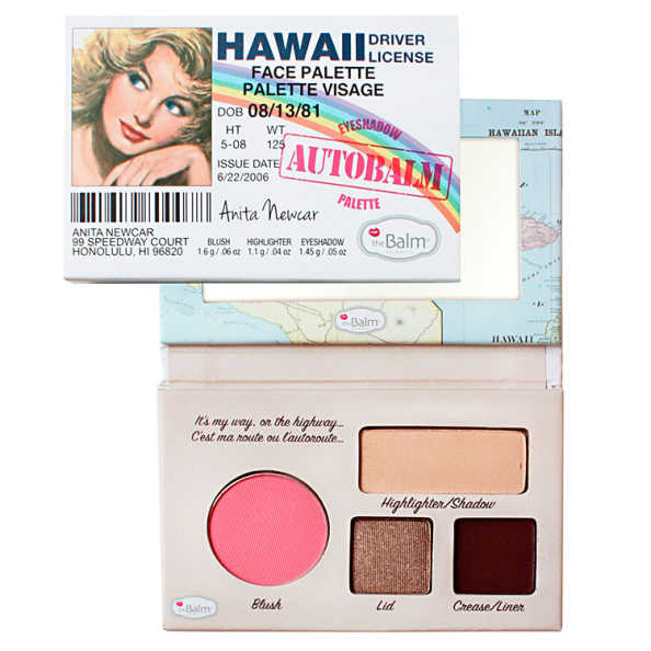 the Balm Autobalm Eyeshadow Palette Hawaii Driver License - Paleta de Sombras e Blush 4,15g
