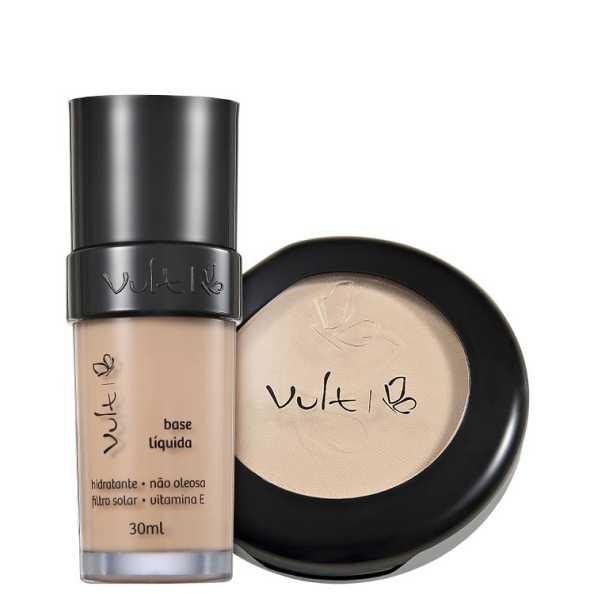Vult Make Up Base Pó 01 Bege Kit (2 Produtos)