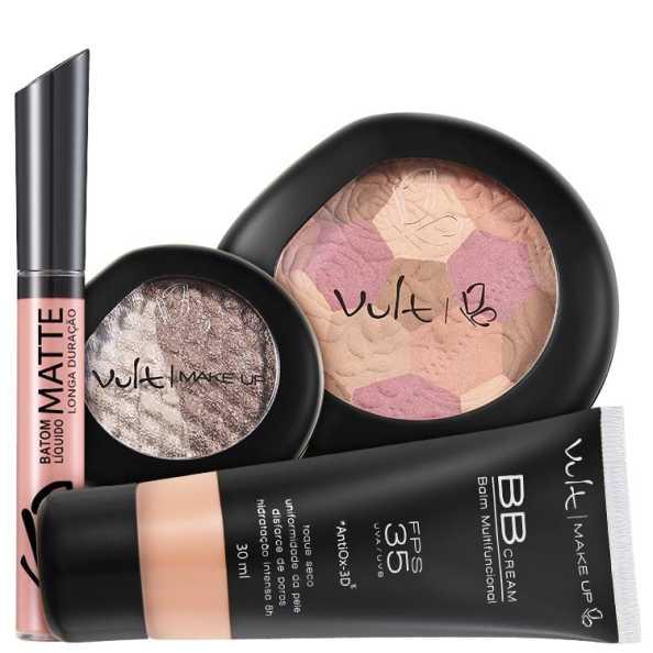 Vult Make Up Multifuncional Bege FPS35 Baked Kit (4 Produtos)