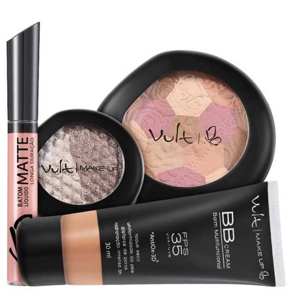 Vult Make Up Multifuncional Marrom FPS35 Baked Kit (4 Produtos)