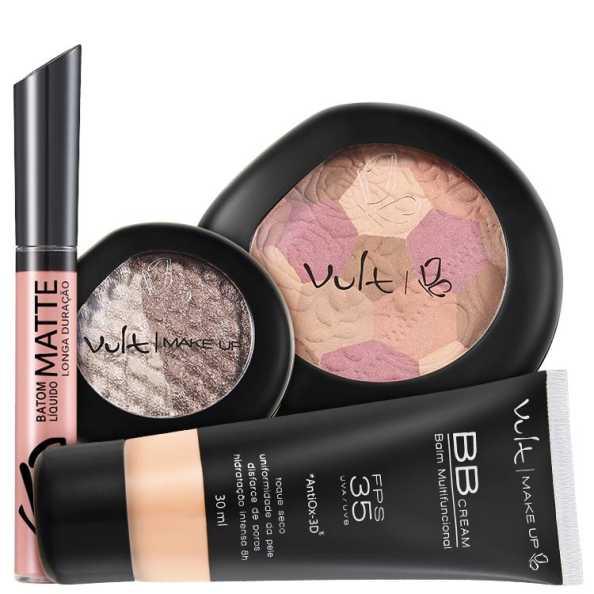 Vult Make Up Multifuncional Rosa FPS35 Baked Kit (4 Produtos)