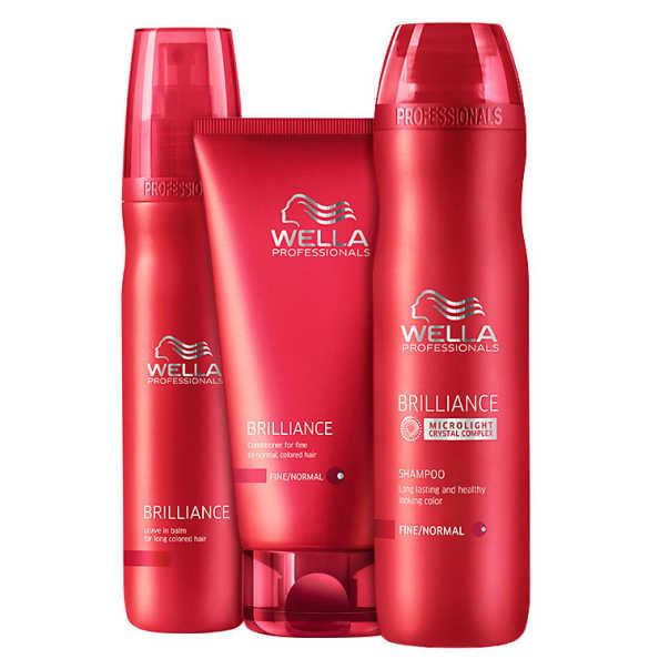 Wella Professionals Brilliance Balm Kit (3 Produtos)