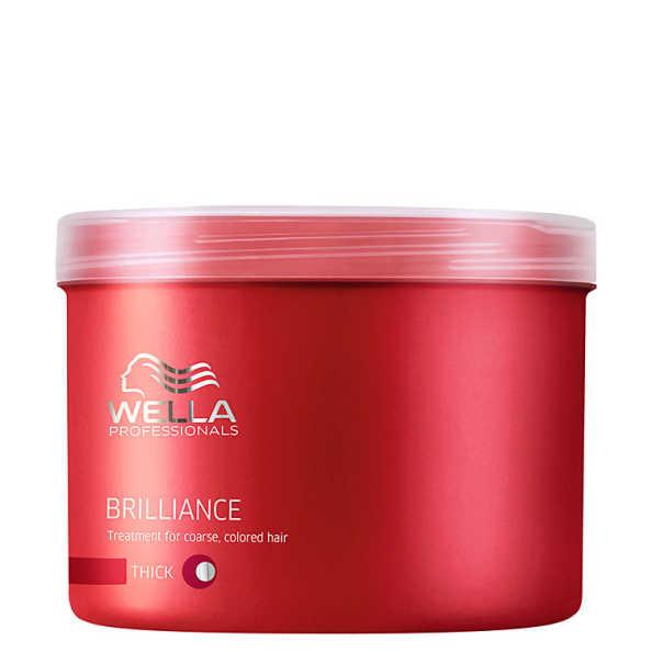 Wella Professionals Brilliance Mask Cabelo Grosso - Máscara de Tratamento 500ml