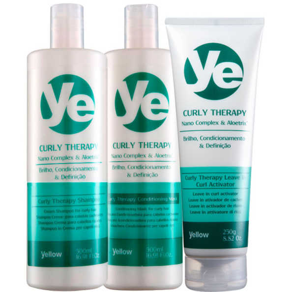 Yellow Curly Therapy Activator Kit (3 Produtos)
