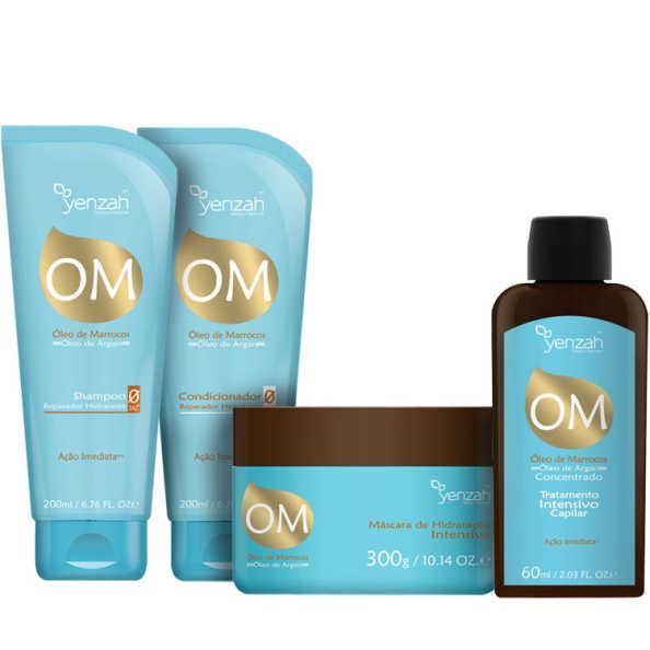 Yenzah Om Óleo de Marrocos Óleo de Argan Full Kit (4 Produtos)