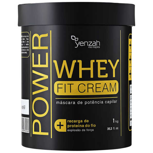 Yenzah Power Whey Fit Cream - Máscara Reconstrutora 1000g
