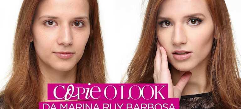 Maquiagem inspirada na Marina Ruy Barbosa