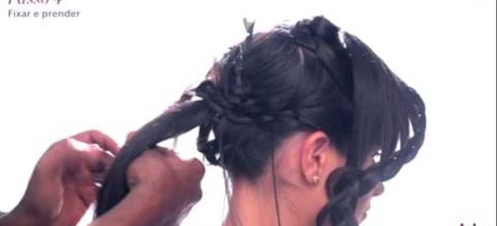 Penteado coque com trança com Eliabe Moreira