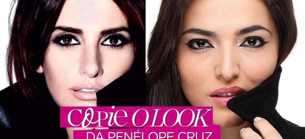 Maquiagem inspirada na Penélope Cruz